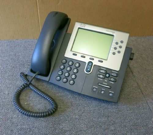 Cisco CP-7961G 7961G VoIP IP Business Desktop Display Telephone With Stand